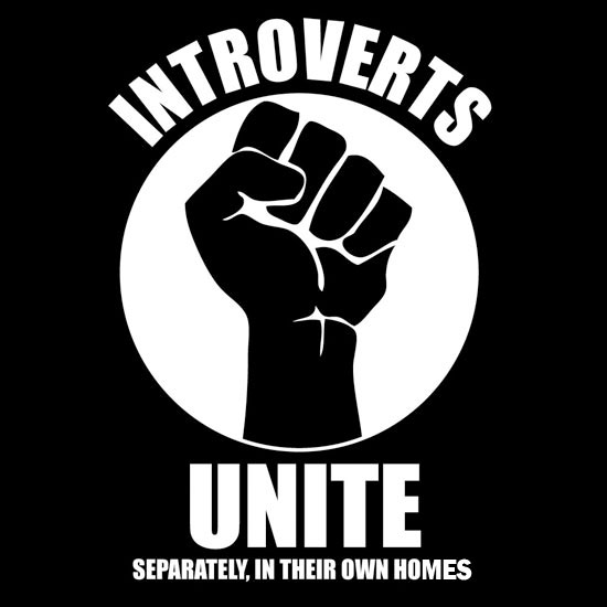 Introverts Unite...Separately - Decal, Poster or T-Shirt ...