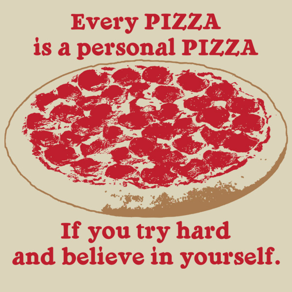 personal pizza t shirt