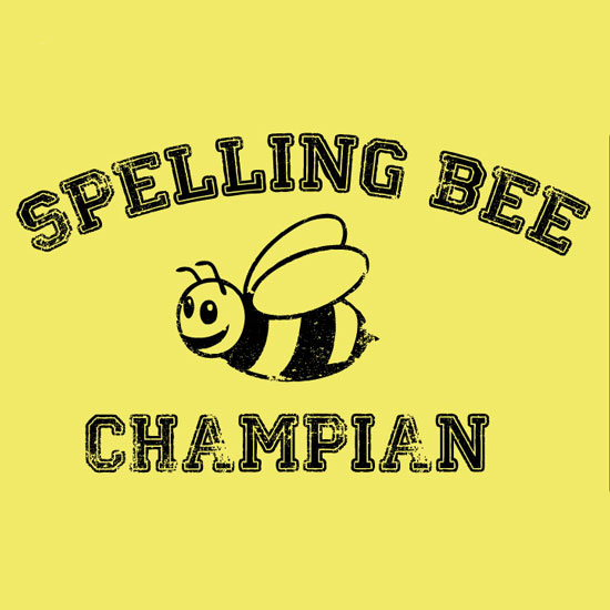 Spelling Bee Champian - T-Shirt - SHIPS FREE!